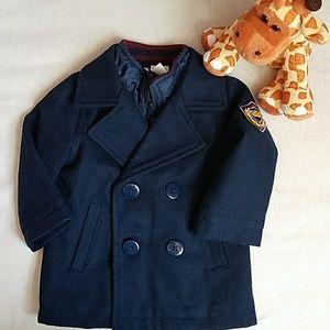 HP!💕 Koala baby Boy Pea Coat Navy blue _ 9 months